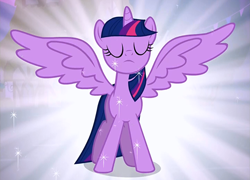 File:Alicorn Twilight Revealing Her New Form Cropped S3E13.png
