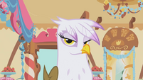 Gilda looks at Rainbow Dash S1E05