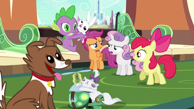 File:Sweetie Belle upset about not seeing the palace S03E11.png