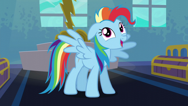 "File:Rainbow Dash ""I'm always excited!"" S6E7.png"