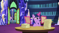 Starlight pokes her head in the library S6E1