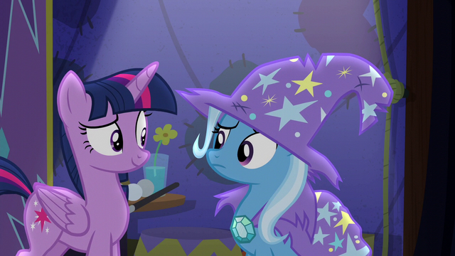 File:Trixie looking confused at Twilight S6E6.png