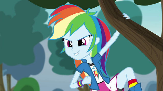 File:Rainbow Dash checks out the competition EG3.png