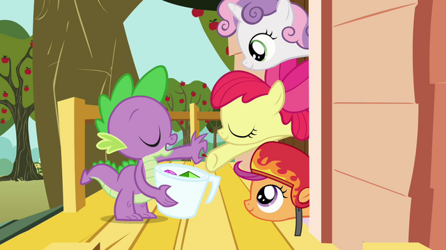 "File:Spike and the CMC ""take it or leave it"" S03E11.png"