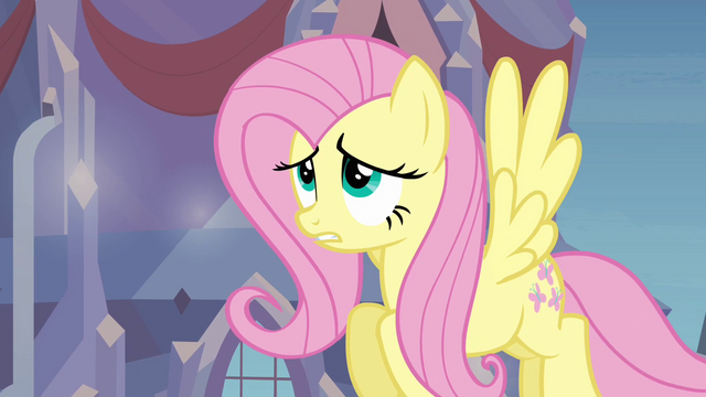 "File:Fluttershy worried ""we're gonna blow it"" S03E12.png"