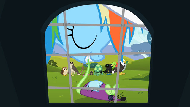 File:Rainbow Dash putting toy mouse down S2E07.png
