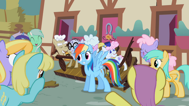 File:Rainbow Dash rescues Pony Citizens S2E8.png