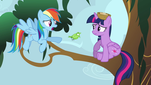File:Rainbow Dash talking to Princess Twilight S4E01.png