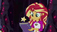 Sunset Shimmer with a Crystal Gala checklist EG4