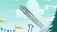 The Wonderbolts streak through the sky S6E7