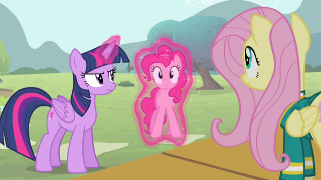 File:Twilight setting Pinkie Pie down S4E14.png
