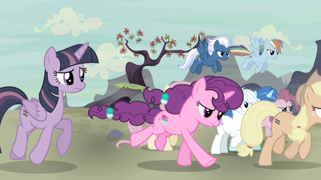 File:Mane Six and village ponies go after Starlight S5E2.png