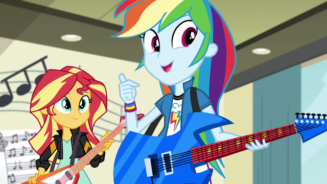 "File:Rainbow Dash ""I hope the FG have a music competition"" EG3.png"
