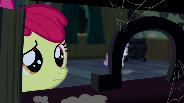 File:Apple Bloom looking at an upright horseshoe S5E6.png
