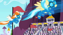 Accidental Wonderbolts appearing in the Derby out of nowhere S02E09