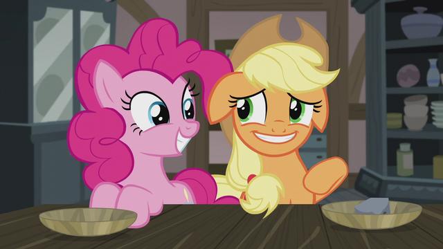 File:Applejack smiling nervously at Pinkie again S5E20.png