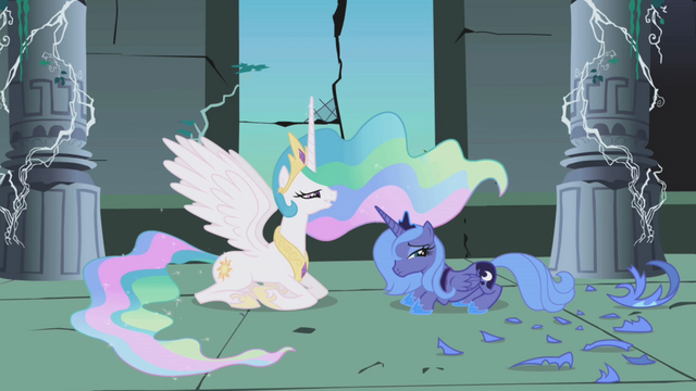 File:Princess Celestia talking with Princess Luna S1E2.png