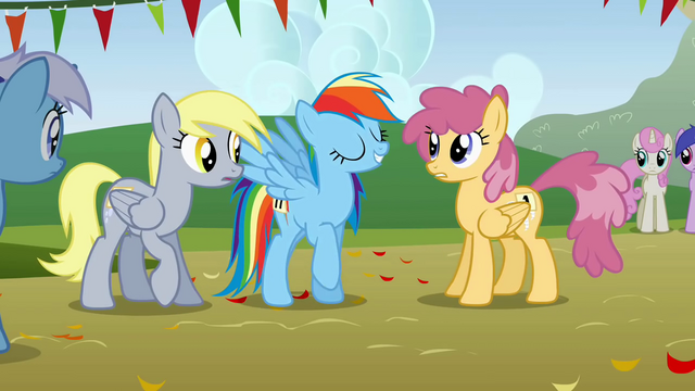 File:Rainbow Dash arrives to the competition S1E13.png