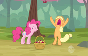 Applejack fed up with Pinkie Pie S2E14