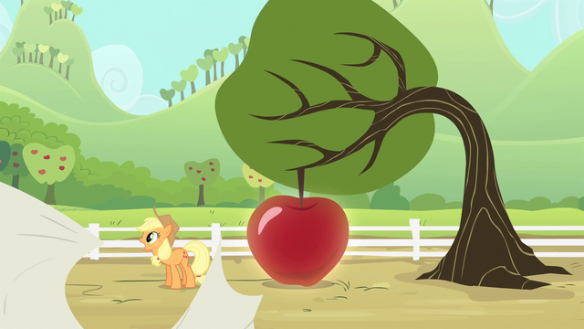 File:Applejack tossing the sheet S4E7.png