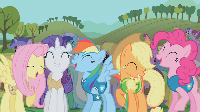 File:Ponies laughing S1E11.png