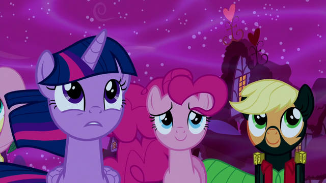 File:Twilight, Pinkie, and Applejack supporting Luna S5E13.png