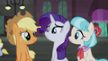 AJ, Rarity, and Coco proud S5E16.png