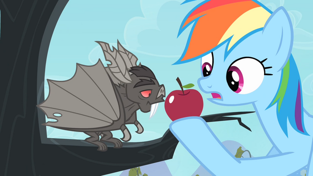 File:Bat sniffing the apple S4E07.png