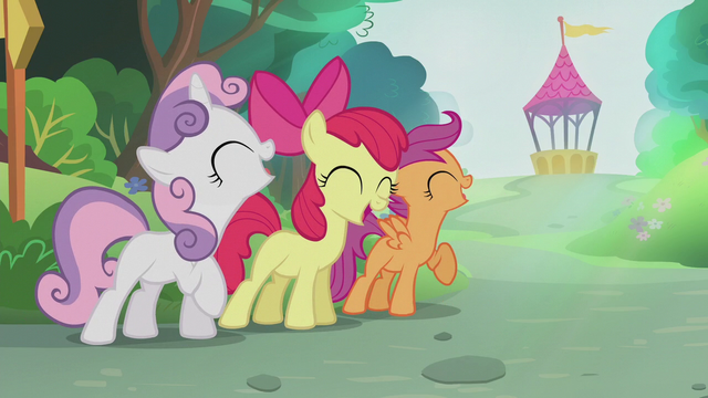"File:CMC singing ""see the light of your cutie mark"" S5E18.png"
