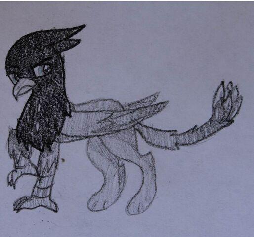 File:FANMADE Black Griffon OC.jpg
