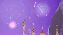 Fireworks in the night skies of Canterlot S1E26