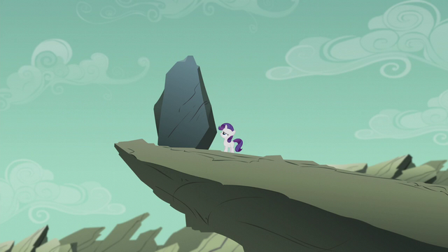 File:Filly Rarity staring at giant rock S5E25.png