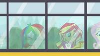 Rainbow Dash and Sunset riding the CHS bus EG4