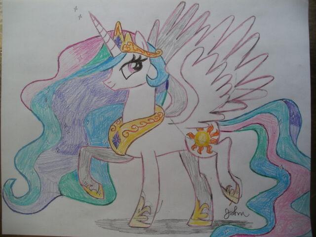 File:FANMADE Princess Celestia drawing.jpg