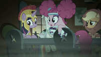 Pinkie Pie looking to her left S5E21