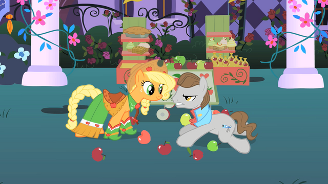 File:Applejack helps Star Gazer get back up S1E26.png