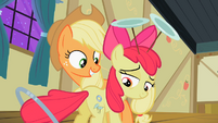 Apple Bloom looks at her two cutie marks S2E06