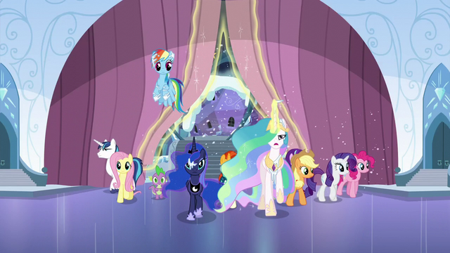 File:The ponies come in S6E2.png