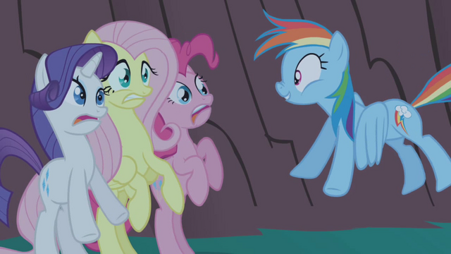 File:Rainbow Dash successfully scares her friends S1E02.png