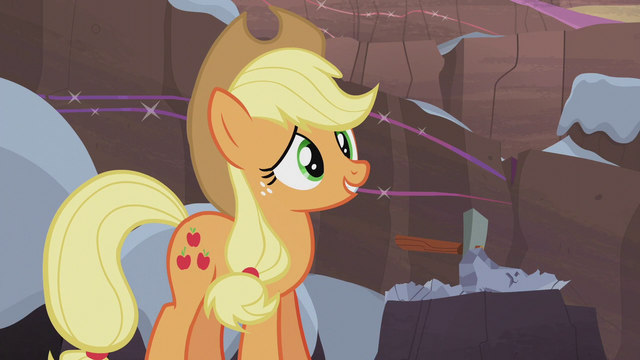 File:Applejack trying to get into the spirit S5E20.png