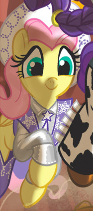 File:Comic issue 25 Fluttershy as Dale Evans.png