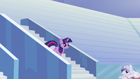 Twilight walking down stairs S3E12