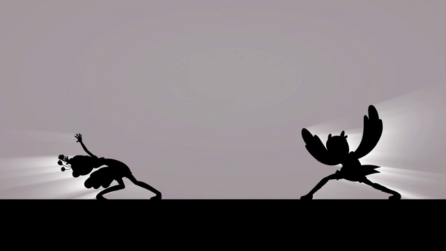 File:Lyra and Sweetie Drops competing silhouettes EG3.png