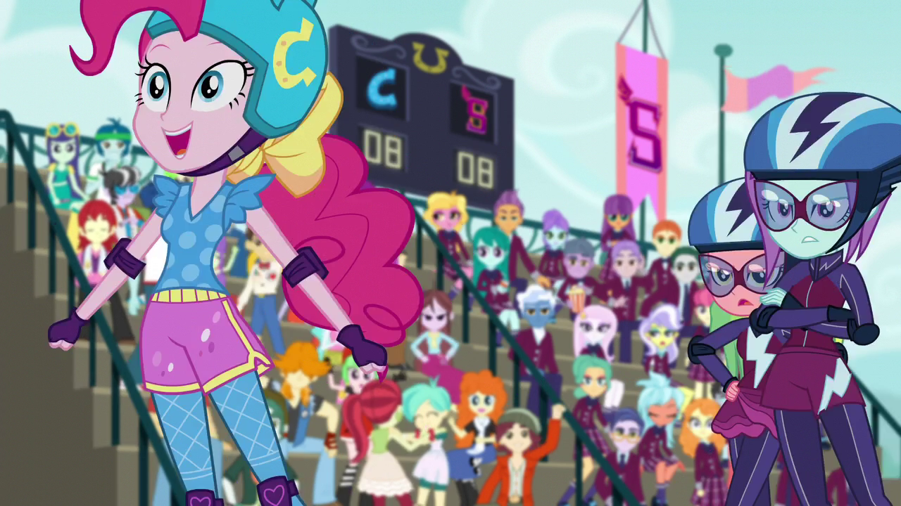 Image - Pinkie Pie in the roller derby EG3.png | My Little ...