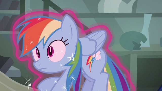 File:Rainbow Dash being lifted with magic S4E04.png