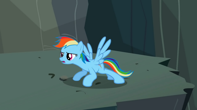 File:Rainbow Dash limbering up S2E07.png