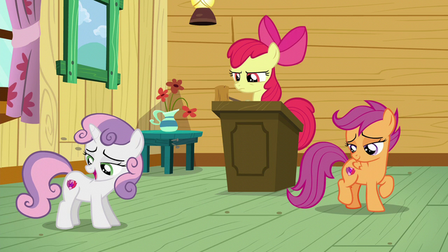 "File:Sweetie ""I was distracted by the radiance of my cutie mark"" S6E4.png"