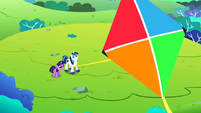 Twilight and Shining Armor flying a kite S02E25