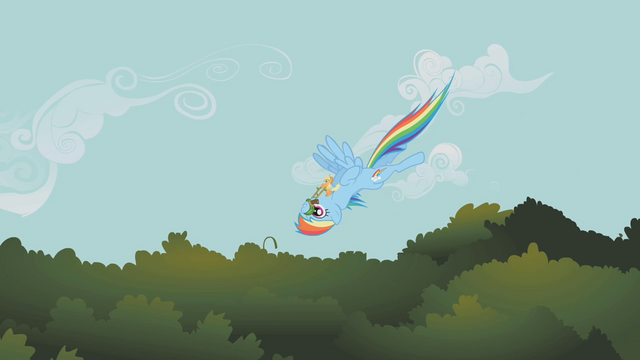 File:Rainbow Dash flying downward upside-down S1E09.png
