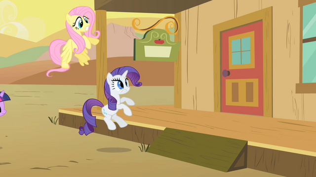 File:The door is slammed on Rarity and Fluttershy S1E21.png